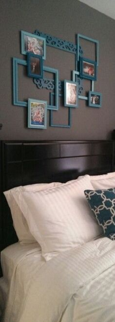 Picture frames within picture frames. Epic! ---------------- #picture #frames #gallery #wall #diy