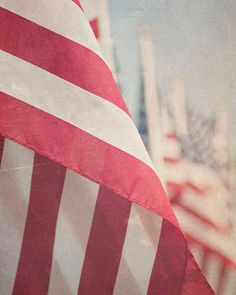 Old Glory -- American Flags Fine Art Photography Print (8x10)
