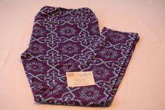 Adult Leggings, Tall & Curvy Purple's with multi-pattern