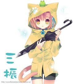 Rained on kitty Anime Chibi, Kawaii Anime, Anime Couples, Neko, Cute Cats, Pikachu, Kitty, Princess Zelda, Manga