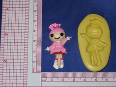 LalaLoopsy Flexible Silicone Push Mold Resin Clay Candy Bookscraping A490