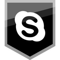 Skype-Free-Silver-Shield-Icon-AlfredoCreates