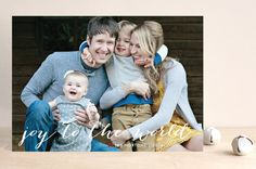 Simple Joy Christmas Photo Cards by Fig and Cotton Paperie at minted.com