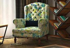 Shop Wooden High Back Chairs Online in India at affordable Price online Street. Choose from the gigantic collection consisting of florals and solid shades designs and buy the perfect one for your living room. Wing Chair, Wingback Chair, Armchair, Wooden Street, Cream Walls, High Back Chairs, Living Room Chairs, Accent Chairs, Chairs Online