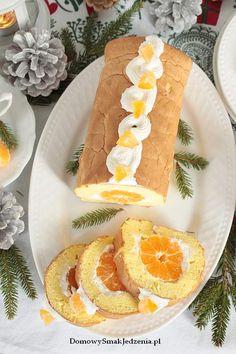 rolada z mandarynkami | Domowy Smak Jedzenia .pl Cakes, Baking, Ethnic Recipes, Food, Cake Makers, Kuchen, Bakken, Essen, Cake
