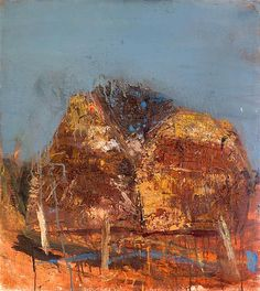 Cornstacks by Joan Eardley Pastel Landscape, Abstract Landscape, Landscape Paintings, Abstract Geometric Art, Cool Artwork, Painting Inspiration, Painting & Drawing, Modern Art, Collages