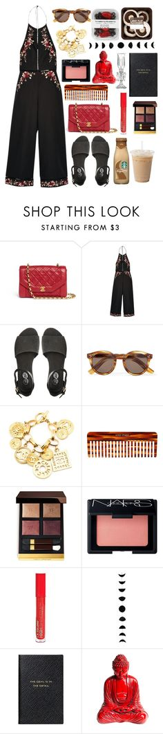"""""""Untitled #1003"""" by meelstyle on Polyvore featuring Zimmermann, Cheap Monday, Illesteva, Chanel, Mason Pearson, Tom Ford, NARS Cosmetics, Smythson and Saint-Louis Crystal"""