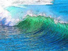 'Wave+Art'+von+Dirk+h.+Wendt+bei+artflakes.com+als+Poster+oder+Kunstdruck+$18.03