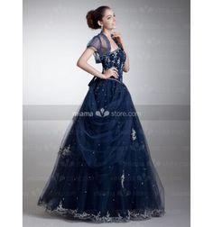 CANDY - A-line Sweetheart Floor length Satin Tulle Sweetheart Wedding dress