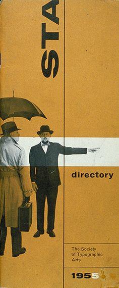 The Society of Typographic Arts, 1955   designer Alf Zusi