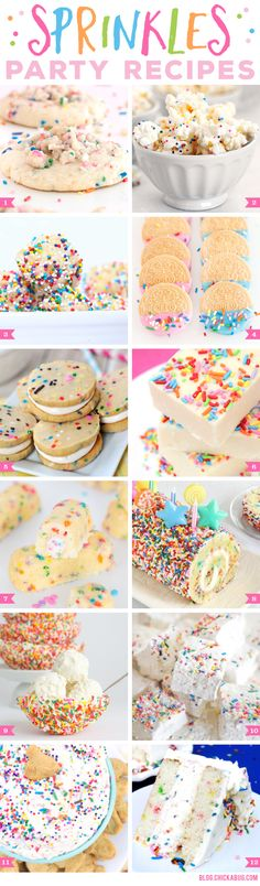 Sprinkles Party Recipes. YUM!!