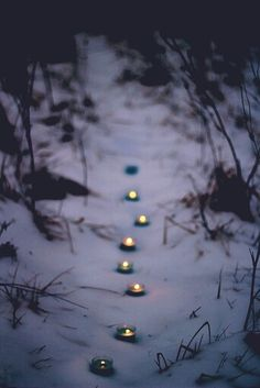 Candle lit pathway cute date idea #cute #candles #date
