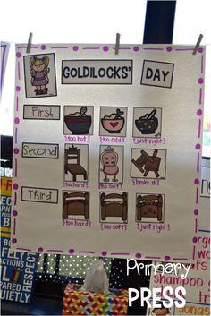 Goldilocks and the three bears activities for kindergarten. Bears Preschool, Kindergarten Literacy, Literacy Activities, Language Activities, Kindergarten Portfolio, Preschool Crafts, Traditional Tales, Traditional Stories, Fairy Tales Unit