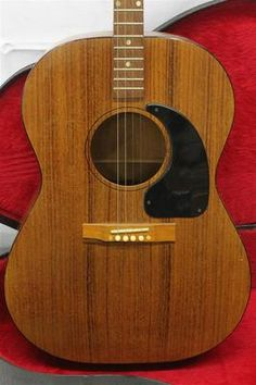 VINTAGE 1964 Gibson TG-0 Acoustic Tenor Guitar Mahogany Body CLEAN w Nice Case