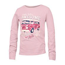 Buy Fat Face Girls' Floral Van Long Sleeve T-Shirt, Pink Online at johnlewis.com