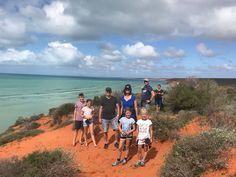 Great family fun walking along the magical red cliffs at Cape Peron