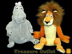 Kohls Cares Stuffed Plush Madagascar Set Of 2 Alex The Lion  And Gloria Hippo