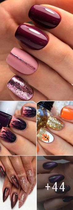 48 Must Must Fall Nail Designs and Ideas ongles 48 Must Must Fall Nageldesigns und -ideen Winter Nail Designs, Fall Nail Designs, Cute Nail Designs, Acrylic Nail Designs, Acrylic Nails, Creative Nail Designs, Autumn Nails, Winter Nails, Cute Fall Nails