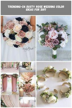 Rose Gold and Navy blue wedding flower brides bouquet rose Wedding