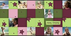 """Get creative with your Christmas photobook designs. Try overlaying your photos to match the style of your background to create a colourful photo collage.     This photobook design was created with Momento's free software and """"Funky Christmas"""" embellishment pack.    http://www.momento.com.au/pages/create_personalised_premium_photobooks"""