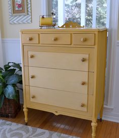 Annie Sloan - Arles, Arles + White DRESSER: two coats on most; second coat white on some. Very interesting! Fits my pink dresser re-do. LOOK