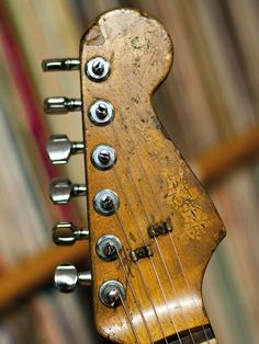 Rory Gallagher's nephew, Daniel, tells us the story of how this legendary 1961 Stratocaster got its uniquely worn finish. Fender American Standard, American Standard Stratocaster, Rare Guitars, Fender Guitars, Gibson Guitars, Fender Vintage, Vintage Guitars, Stratocaster Guitar, Fender Custom Shop Stratocaster
