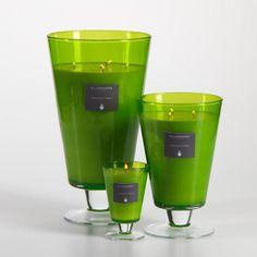 Illuminaria Vase Candle Jar - Green
