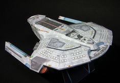 Star Trek - Saber Class Light Cruiser Starship Paper Model by Ikenohata Starfleet Ships, Star Trek Images, Sci Fi Ships, Star Trek Starships, Star Wars, Starship Enterprise, Star Trek Universe, Star Trek Ships, Stargate