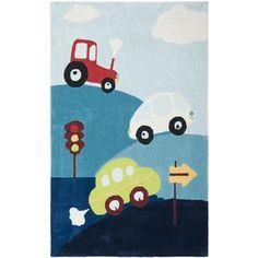 Handmade Children's Cars & Trucks New Zealand Wool Rug