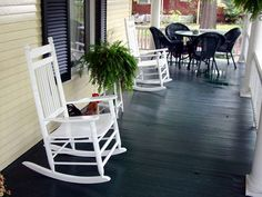 I like the black floor for my porch.