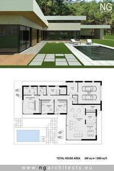 Modern villa Victoria designed by NG architects www.ngarchitects.eu