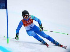 DAY 12:  Tina Maze of Slovenia competes during the Alpine Skiing Women's Giant Slalom
