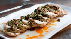 ... Roasted Pork Loin with Chermoula on Panna by Chef Seamus Mullen