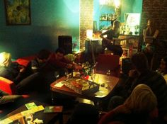 """Get smart cafe. The service is quiet, calm, polite and easy whit melodies from the sixties and other decades. with party nights on Fridays and Happy hours 18:00 – 20:00. Every day a really good coffee from Andrito (coffee beans are roasted here in Riga) and """"Smarty Pants"""" as a classic cocktail can get you in the right mood. A daily meal offer is served here from 12:00 – 16:00 for a fair price you can cover your lunch easily."""