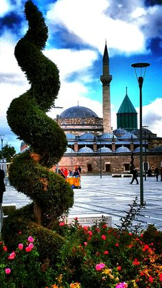 Mevlana Museum in Konya Turkey, is the Mausoleum of Rumi, a Sufi mystic. Also the dervish lodge of the Mevlevi order known as the Whirling Dervishes.