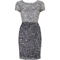 Adrianna Papell Colour Block Dress, Silver/Gunmetal (€215) ❤ liked on Polyvore featuring dresses, cocktail dresses, sequin dresses, sequin maxi dress, maxi dresses and sleeved maxi dress