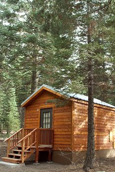 Lassen Vocanic Natl Park cabins. Maybe we will stay here on our way to NM.