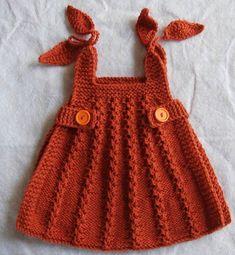 bebek örgü elbise örneği