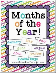 Months of the Year: A complete unit to teach. by Doodle Bugs Teaching Days And Months, Months In A Year, 12 Months, Teaching Activities, Preschool Science, Preschool Lessons, Preschool Learning, Winter Activities, Preschool Ideas