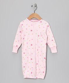 Take a look at this Pink Butterfly Organic Convertible Gown by Kushies on #zulily today!