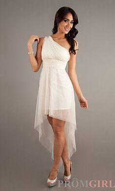 High Low One Shoulder Dress at PromGirl.com