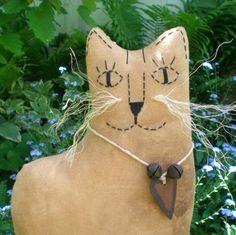 Jasper The Extreme Primitive Folk Art by scaredycatprimitives, $14.00