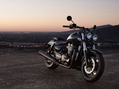 The 2015 Thunderbird Nightstorm Special Edition is a fully-specified, blacked-out power cruiser for riders who demand a harder edge along with their laid-back ride. The custom hand painted tank features 'ghost flames' in a two tone combination of Phantom Black and Silver Frost that provides an incredible sparkle effect finish. #BlackedOutBike #FortheRide | Triumph Motorcycles