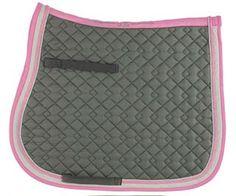 Khaki/Ecru/Pink Saddle Pad