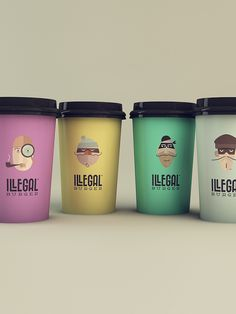Illegal Burger by Isabela Rodrigues, via Behance Cup #packaging fun  : ) PD