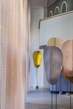 MASK by design duo GamFratesi exhibited in Kvadrat Milan showroom.
