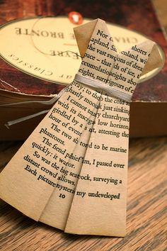 pretty dress book page origami tutorial paper-crafts
