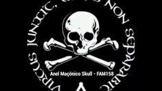 Anel Maçom Caveira Skull - FAM158