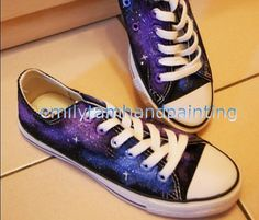 Galaxy Sneakers Hand Painted Low Top Galaxy Shoes