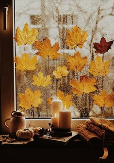 Fall, Autumn, Curtains, Shower, Prints, Painting, Paper Trees, Cottage, Cozy